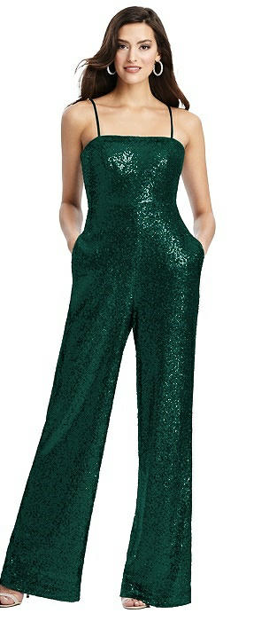 Alexis Sequin Jumpsuit with Pockets
