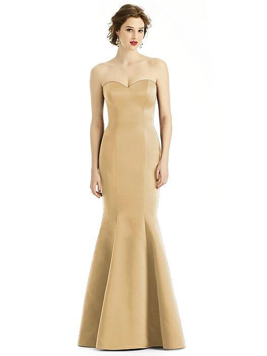 Matte Satin Sweetheart Strapless Trumpet Gown
