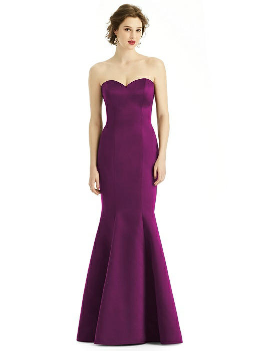 Matte Satin Sweetheart Strapless Trumpet Gown