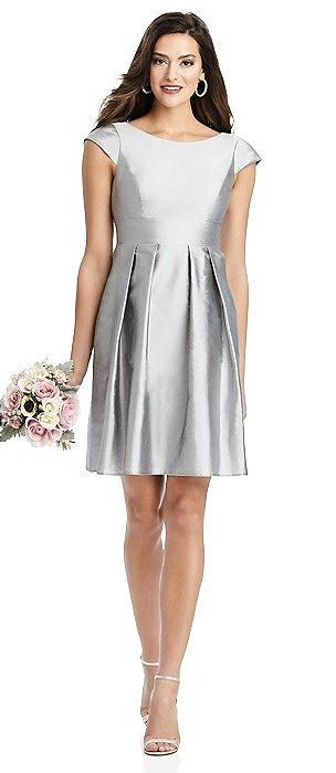 Bateau Neck Cap Sleeve Cocktail Dress