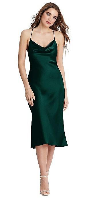 Cowl-Neck Convertible Midi Slip Dress - Piper