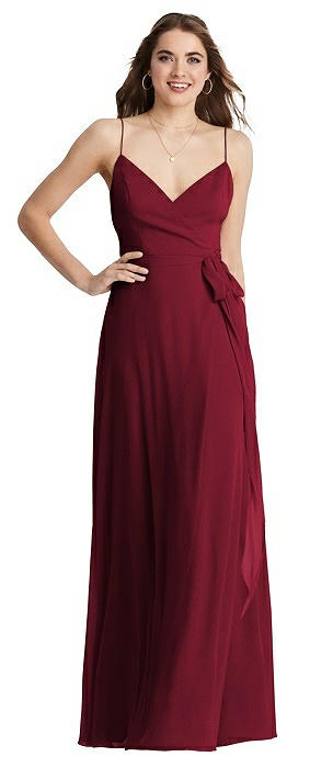 Chiffon Maxi Wrap Dress with Sash - Cora