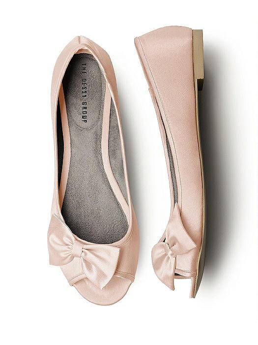 Satin Peep Toe Bridal Ballet Wedding Flats