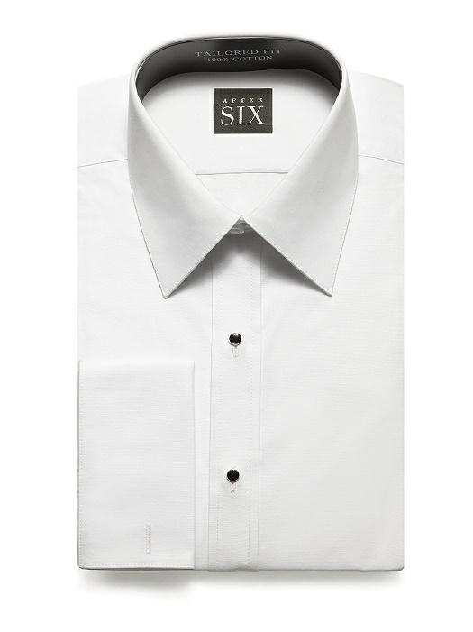 Plain Front, Regular Fit Tuxedo Shirt- The Harry by After Six