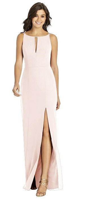 Keyhole Neck V-Strap Back Mermaid Gown