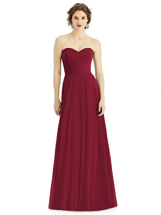 Strapless Sweetheart Gown with Optional Spaghetti Straps