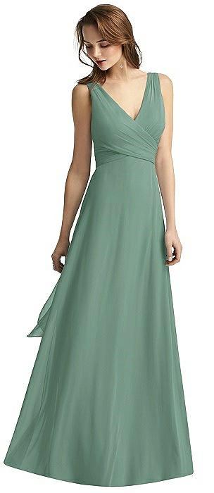 V-Neck Chiffon Wrap Dress