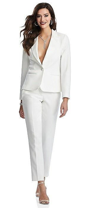 Woman's Ivory Tuxedo Jacket