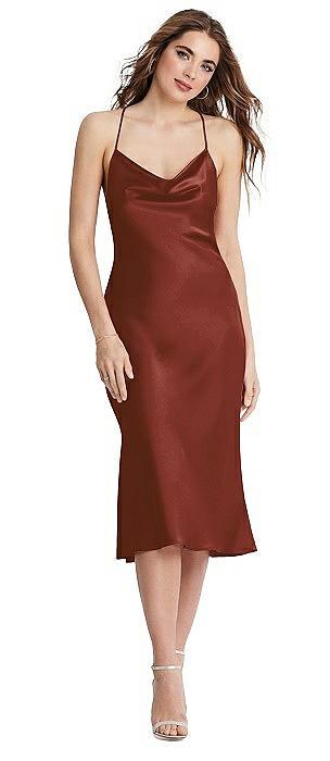Cowl Neck Convertible Midi Slip Dress - Piper