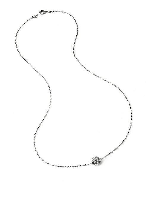 Floating Swarovski Crystal Ball Necklace