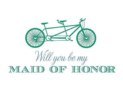Will You Be My Maid of Honor - Bike