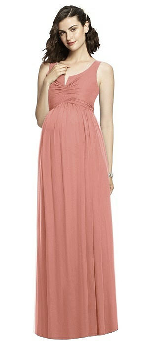 Sleeveless Notch Maternity Dress On Sale