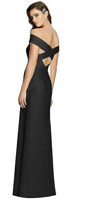 Off-the-Shoulder Criss Cross Back Trumpet Gown On Sale