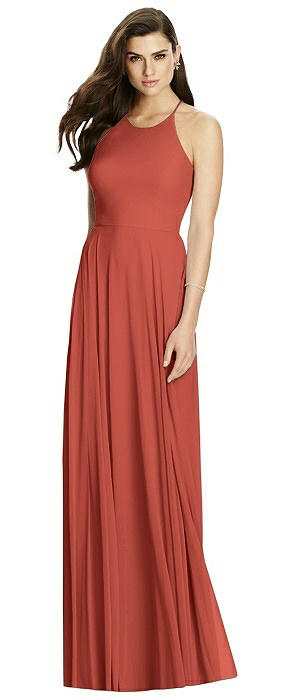 Criss Cross Backless Halter Maxi Dress