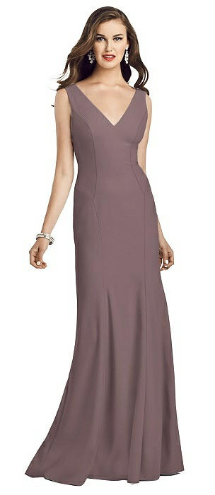 Sleeveless Seamed Bodice Trumpet Gown