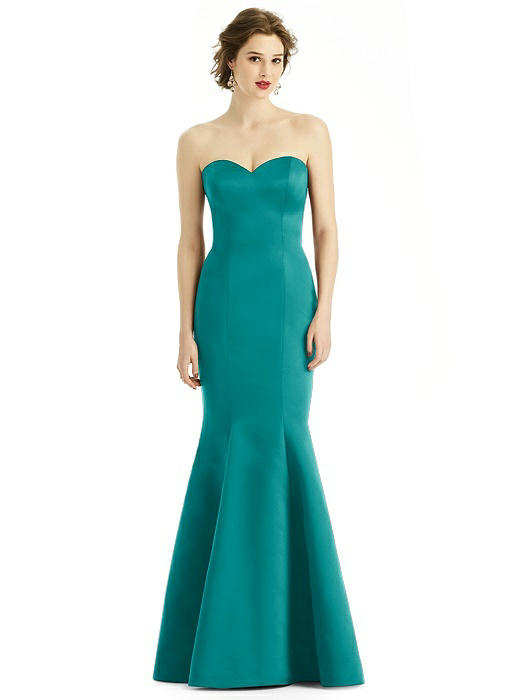 Satin Sweetheart Strapless Mermaid Dress