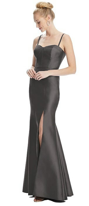 Bustier Bodice Satin Trumpet Gown