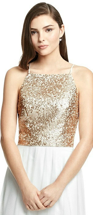 Spaghetti Strap Sequin Top