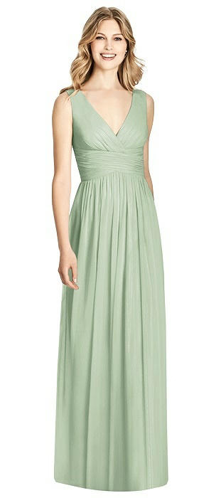Sleeveless Criss Cross Shirred Maxi Dress