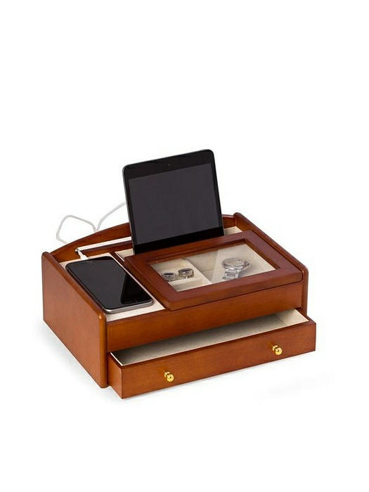 Cherry Wood Valet Box