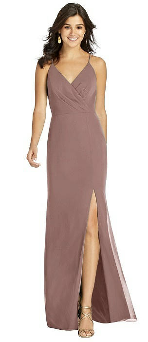 Criss Cross Back Mermaid Wrap Dress