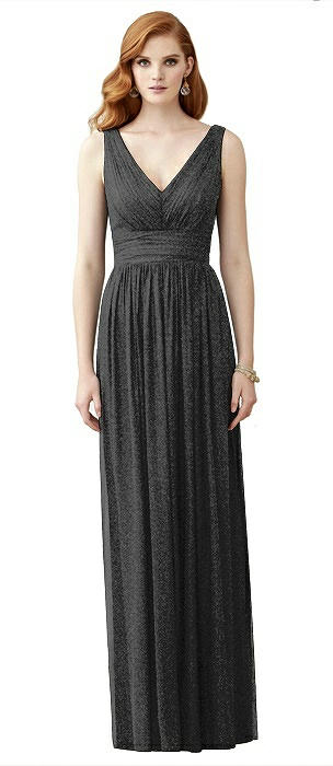 Dessy Shimmer Bridesmaid Dress 2955LS On Sale