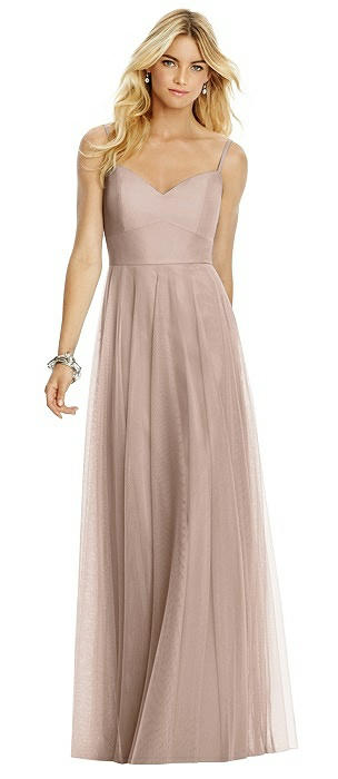 Sweetheart Spaghetti Strap Tulle Dress On Sale
