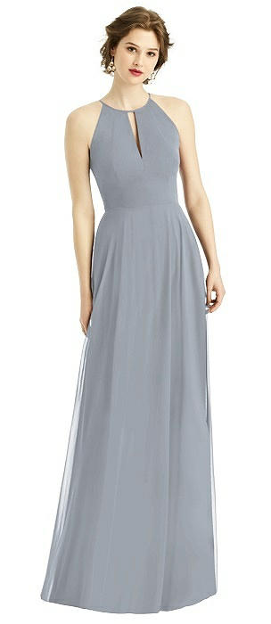 Keyhole Halter Maxi Dress