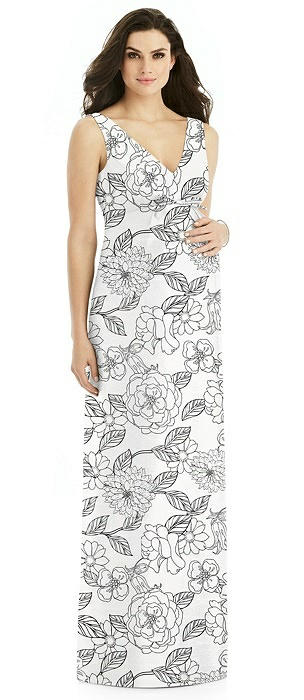 Sleeveless Floral Maternity Dress