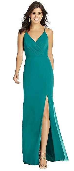 Criss Cross Back Mermaid Wrap Dress