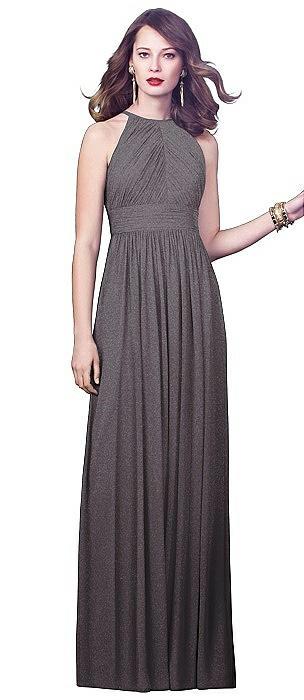 Dessy Shimmer Bridesmaid Dress 2918LS On Sale