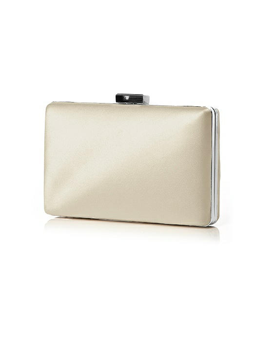 Matte Satin Pill Box Clutch
