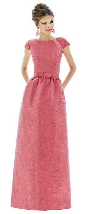 Cap Sleeve V-Back Maxi Dress with Pockets