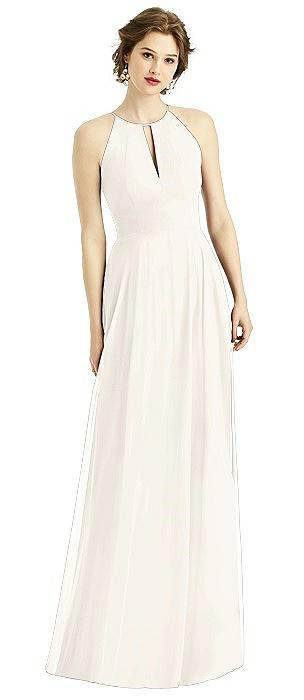 Keyhole Halter Maxi Dress