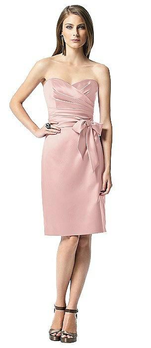 Strapless Bowed-Waist Satin Cocktail Dress - Closeout