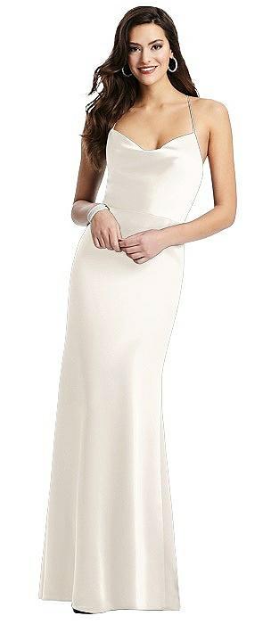 Cowl-Neck Criss Cross Back Slip Dress