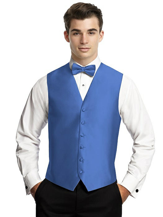 Yarn-Dyed 6 Button Tuxedo Vest by After Six On Sale
