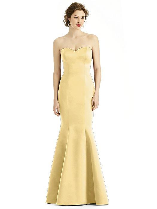 Satin Sweetheart Strapless Mermaid Dress