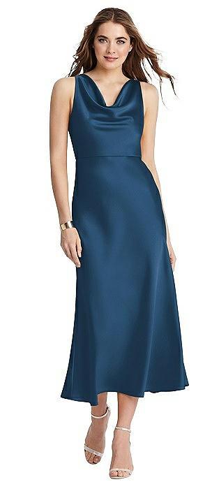 Cowl-Neck Midi Tank Dress - Esme