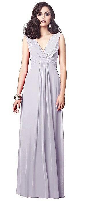 Draped V-Neck Shirred Chiffon Maxi Dress - Ari