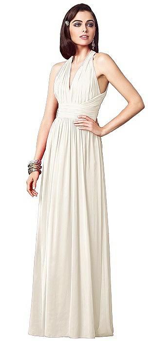 Ruched Halter Open-Back Maxi Dress - Jada