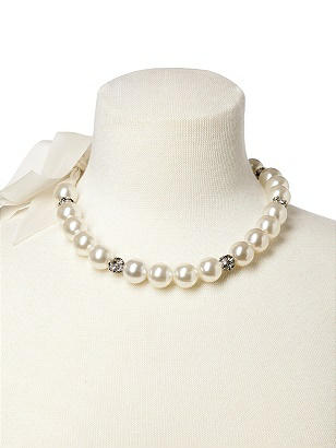 Faux Pearl Bridal Necklace