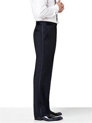 Flat Front Tuxedo Pant in Tollegno Wool
