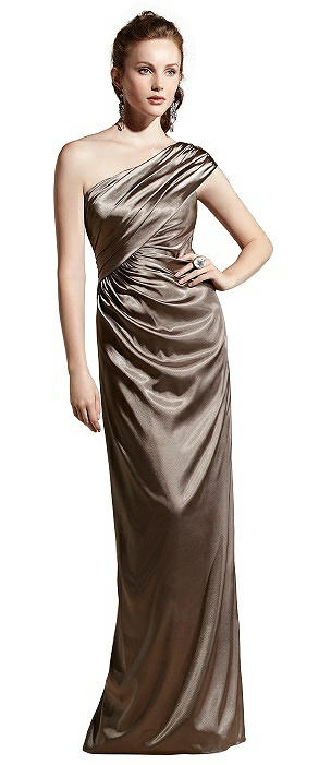 Social Bridesmaid 8118 Long One Shoulder Gown