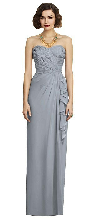 Dessy 2895 Long Strapless Sweetheart