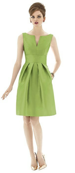 Alfred Sung D654 Cocktail Sleeveless Pockets