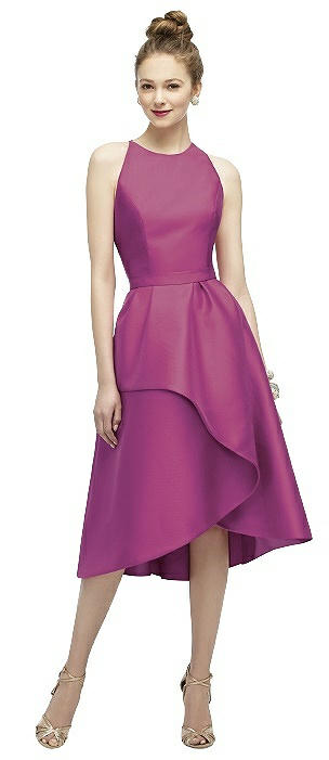 Lela Rose LR206 Tea Sleeveless Belt Skirt