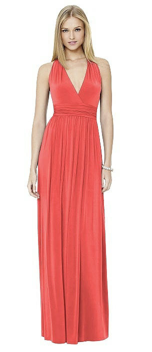 Social Bridesmaid 8147 Long Halter V-neck