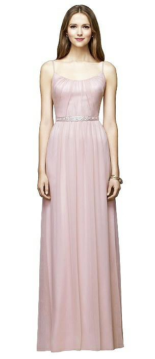 Lela Rose LR214 Long Scoop Beaded Pleated Skirt