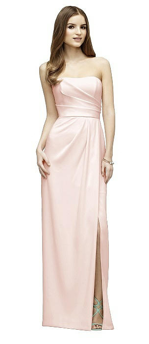Lela Rose LR221 Long Strapless Pleats Slim Skirt